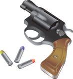 Revolver e richiamo illustrazione vettoriale