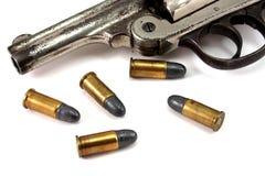 Revolver en Kogels Royalty-vrije Stock Afbeelding