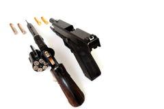 Revolver en Pistool Royalty-vrije Stock Foto