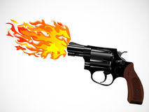 Revolver and fire Stock Photography