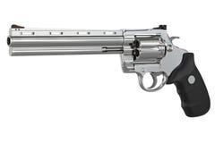 Revolver firearm gun chrome Royalty Free Stock Photos