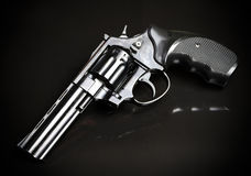 Revolver gun on black background.  Stock Photography
