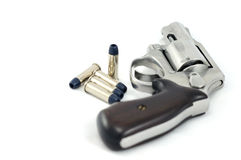 Revolver gun and bullets Royalty Free Stock Photo
