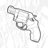 Revolver gun Stock Images