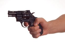 Revolver in the hand Royalty Free Stock Photography