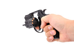 Revolver in hand Royalty Free Stock Images
