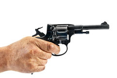Revolver in hand Royalty Free Stock Photography