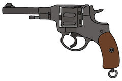 Revolver. Hand drawing of a old army revolver Stock Images