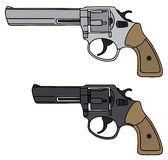 Revolver. Hand drawing of two revolvers Stock Photo
