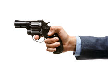 Revolver in hand Stock Image