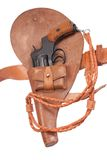Revolver in a holster Stock Photo