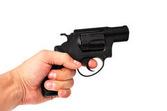 Revolver In Hand Stock Images