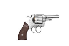 Revolver isolated on white Royalty Free Stock Photography
