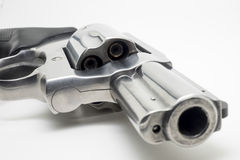 Revolver isolated on white background. Photo of revolver isolated on white background Royalty Free Stock Images