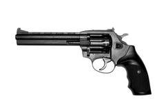 Revolver isolato su bianco. Fotografia Stock Libera da Diritti