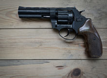 Revolver with a long barrel Stock Image