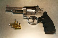 Revolver on Metal Royalty Free Stock Photography