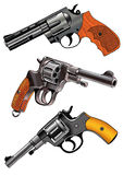 Revolver multicharging firearms trunk Royalty Free Stock Photo