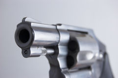 Revolver muzzle Stock Images
