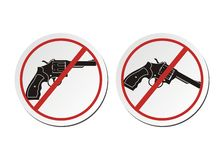 Revolver - no gun sticker sets Stock Images