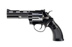 Revolver noir Photo stock