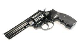 Revolver på vit bakgrund Arkivfoto