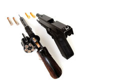 Revolver And Pistol Royalty Free Stock Photo