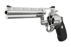 Revolver pistol chrome Stock Photos