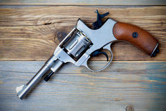Revolver pistol with the hammer cocked Royalty Free Stock Image
