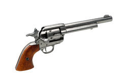 Revolver pistol isolated Stock Images