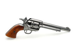 Revolver pistol isolated Stock Photos