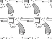 Revolver seamless pattern Stock Images