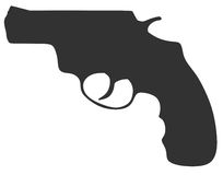 Revolver silhouette Royalty Free Stock Image