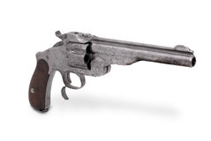 Revolver of the Smith and Wesson system. Royalty Free Stock Photo