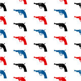Revolver symbol seamless pattern Royalty Free Stock Images