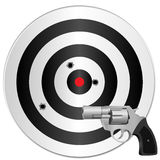 Revolver and target Stock Photo