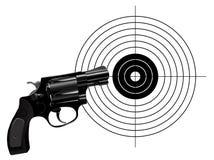 Revolver and target Stock Photos