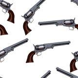 Revolver. Vector seamless pattern illustration clip art Royalty Free Stock Photo