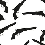 Revolver. Vector seamless pattern illustration clip art Royalty Free Stock Photos
