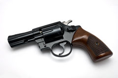 Revolver on white background Royalty Free Stock Photo