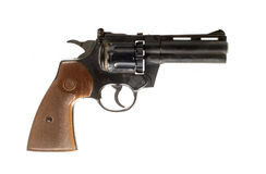 Revolver on white background Royalty Free Stock Photos