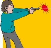 Revolverman vektor illustrationer