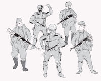 Revolverman på beskickning vektor illustrationer