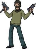 Revolvermankulsprutepistol royaltyfri illustrationer