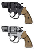 Revolvers. Hand drawing of two revolvers Royalty Free Stock Photography