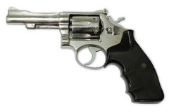 Revolvers on white background Stock Photos