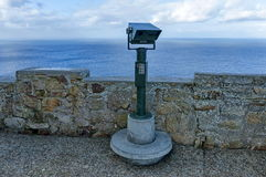 Revolving binoculars of lighthouse at Cape of good hope Royalty Free Stock Photo