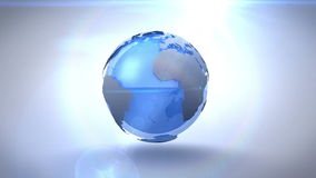 Revolving blue earth royalty free illustration