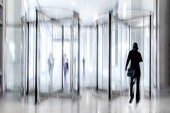 Revolving door glass office stock photos