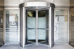 Revolving door. Of modern building Royalty Free Stock Images